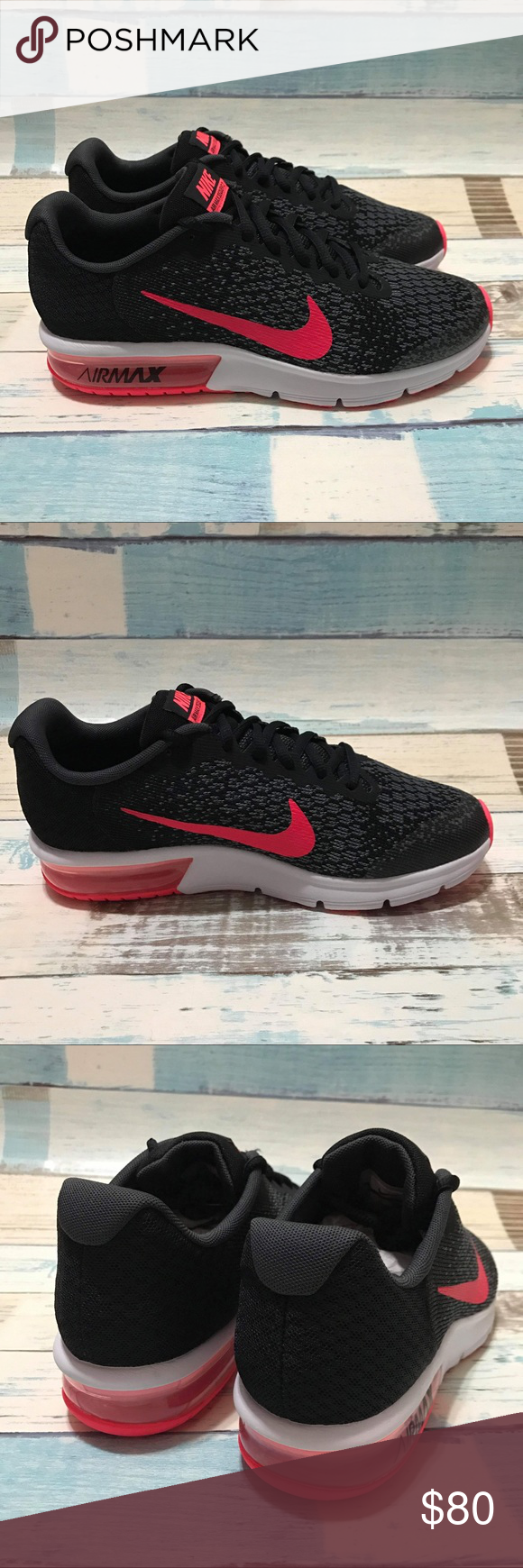 16aaaae0bb27ed Spotted while shopping on Poshmark  NEW Nike Air Max Sequent 2 Black Racer  Pink!  poshmark  fashion  shopping  style  Nike  Shoes