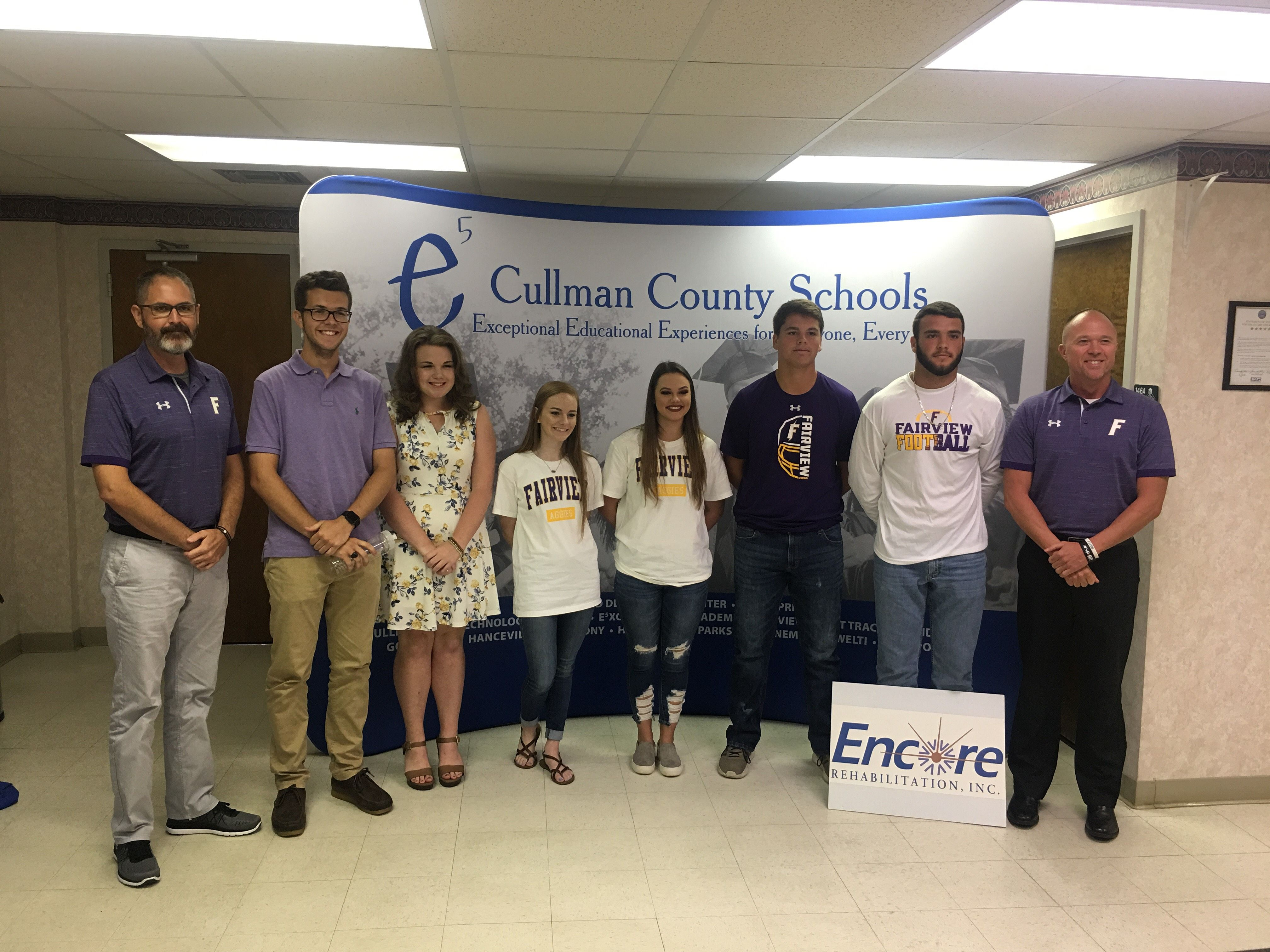 Fairview High School At The Inaugural Cullman County Schools Media Day For Fall Sports Aug 21 2018 Encorerehab Encorespo Fall Sports Cullman Inauguration