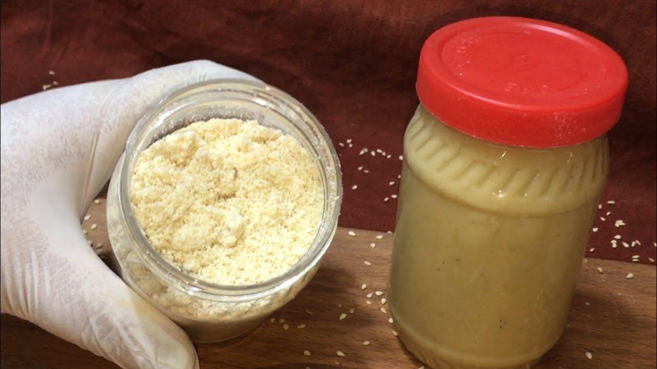 طريقة عمل الطحينة البودر والطحينة الخام وطريقة عمل سلطة الطحينة الشيف هناء فهمي Youtube Tahini Recipe Food Recipes