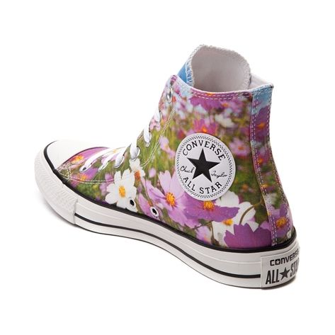 Lace up for petal pushin  sweet style with the Wild Flowers Sneaker from  Converse! These Wild Flower Chucks rock a hi top design with graphic  printed canvas ... 9e38e3323e0b