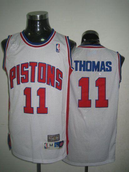 detroit pistons nba 11 white isiah thomas soul swingman jersey ... ccd464475