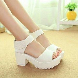 Sepatu Wedges Putih Bsd13 Dengan Gambar Sepatu Sandal Hak