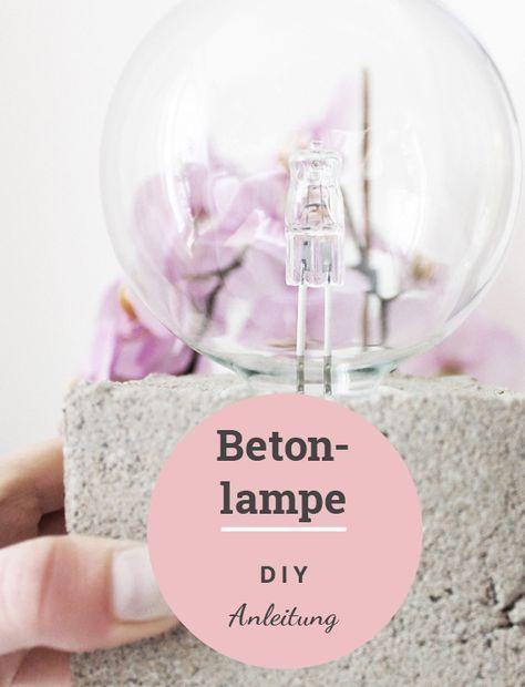 Diy Anleitung Moderne Zementlampe Bastelideen Pinterest Diy Ideas