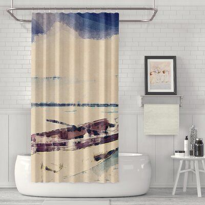 Breakwater Bay Austin Boat Luxury Single Shower Curtain In 2020
