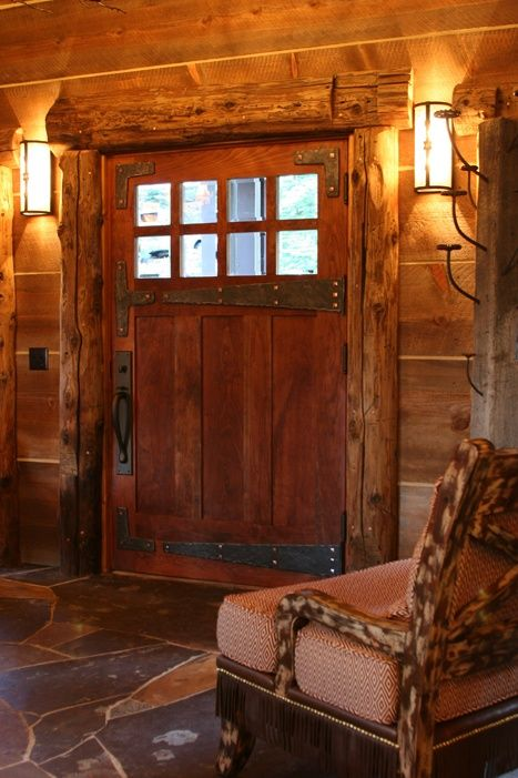 Great door! #ApexExteriors | Rustic house
