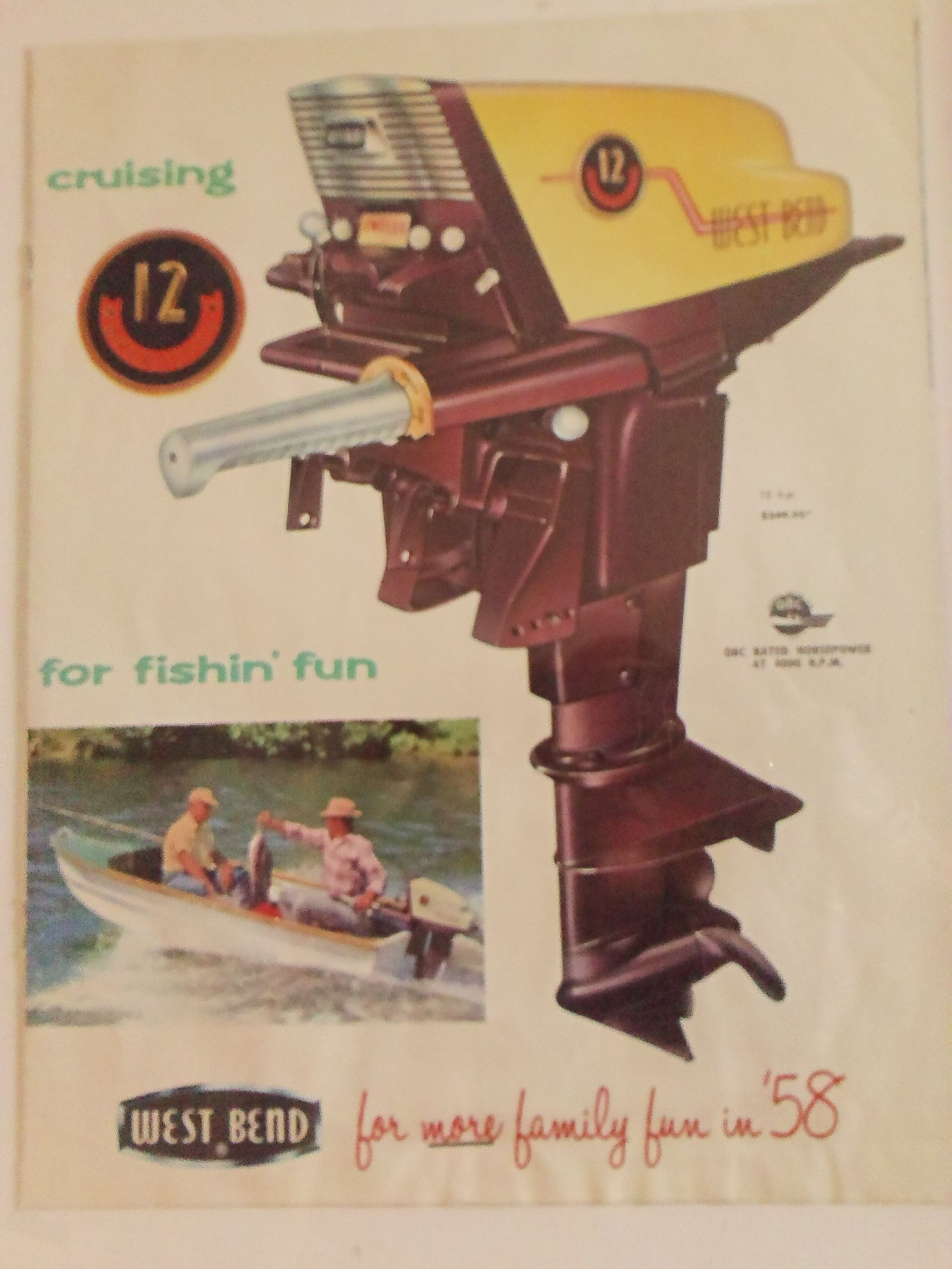1958 West Bend Motor Brochure Outboard Motors Outboard Boat Motors Classic Boats