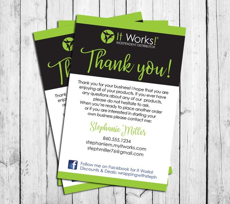 IT WORKS THANK YOU CARDS, Digital Printable, Personalized Note Cards