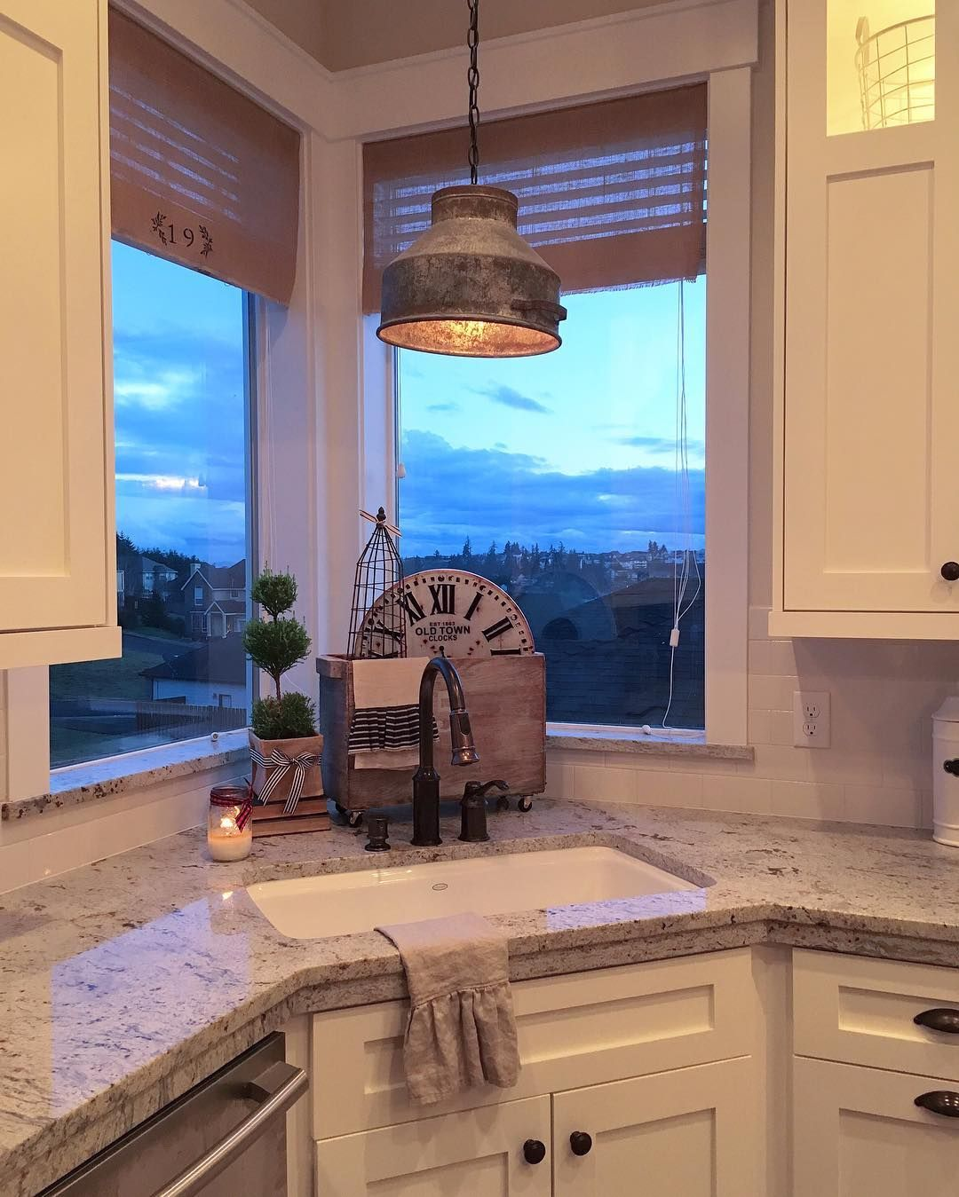 Pin By K Ray On Cozy Cottage Kitchens Kitchen Sink Window Corner Sink Corner Sink Kitchen