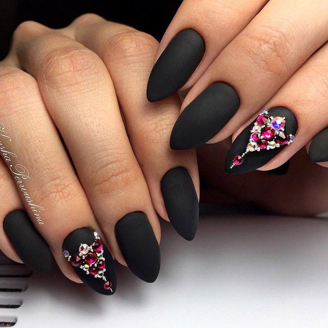 21 Matte Black Nails That Will Make You Thrilled | Matte black nails ...
