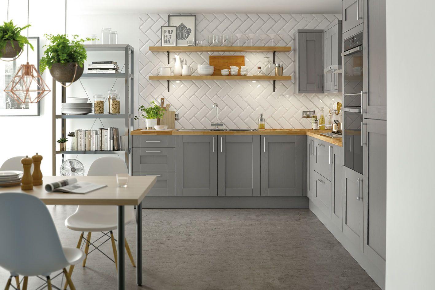 Steamer kitchens in Cornstarch & Wholegrain at Homebase.co