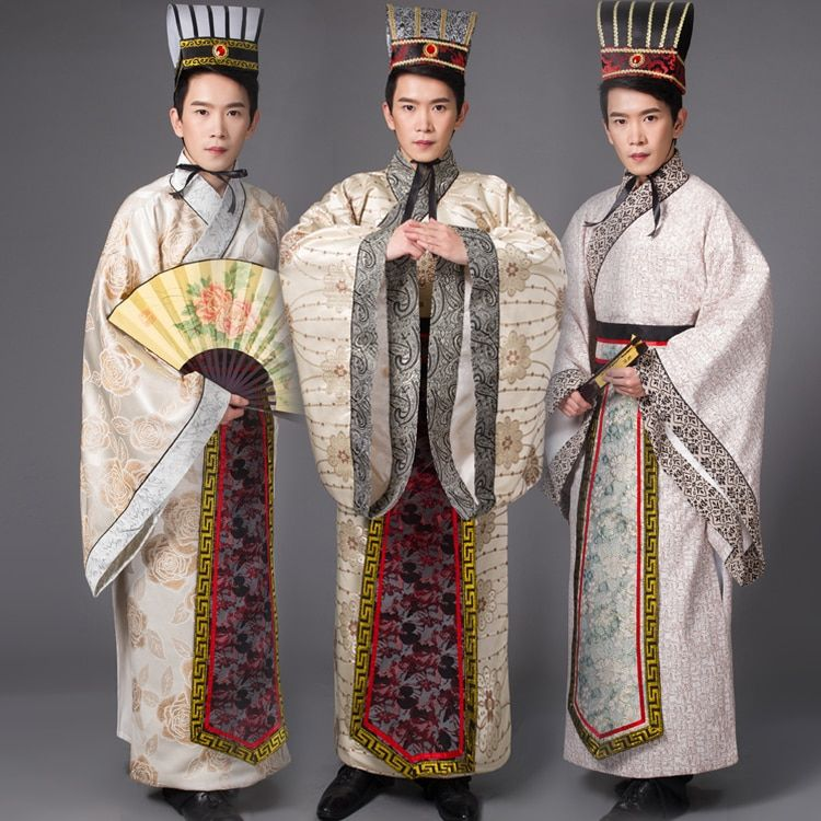 * Chinese Han Clothing Emperor Prince Show Cosplay Suit Robe Costume with Hat *