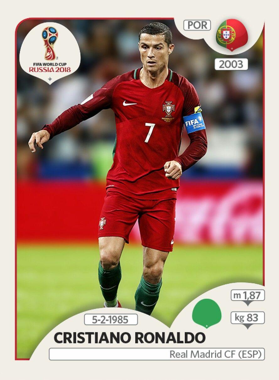 Cristiano ronaldo portugal panini fifa world cup for Ronaldo coupe de cheveux 2018