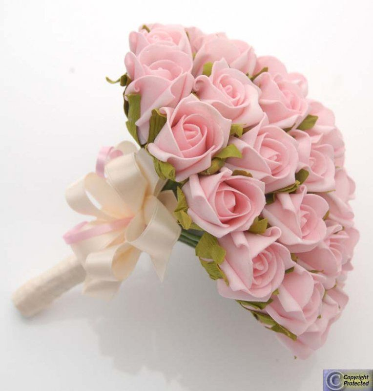 Pink Rose Wedding Bouquet. We Really Like the Shape of Bouquet ...