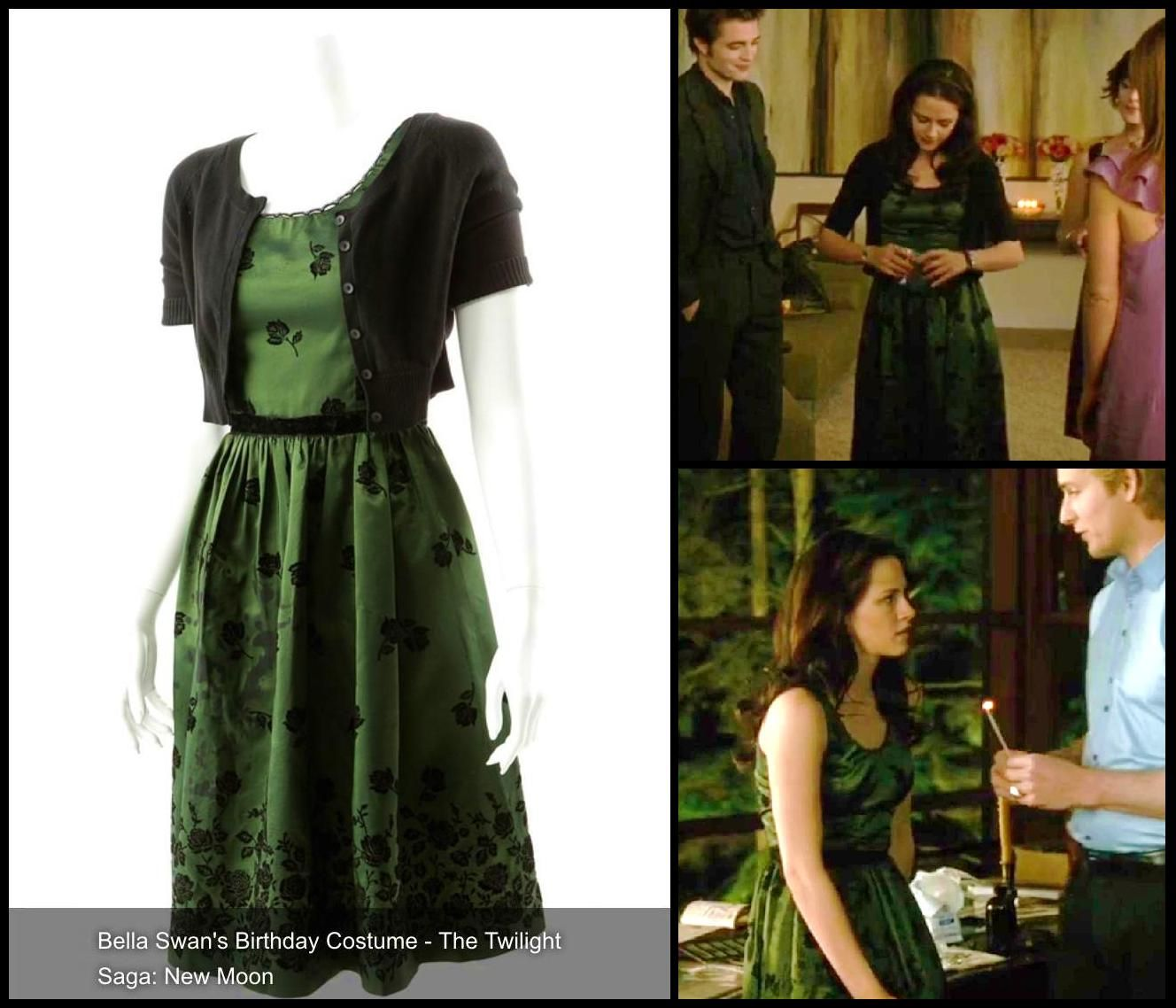 Day 280 Bella S Green Birthday Party Dress From New Moon Will Be Sold As Part Of Propstore S Twilightauction Twilight Outfits Dresses Birthday Party Dress [ 1138 x 1328 Pixel ]