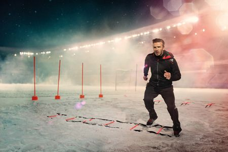 Picture of David Beckham Helps Launch adidas ClimaWARM+ for Cold Weather Training