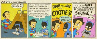 Bruce and Clark. BFF via Chris Vasta Google+