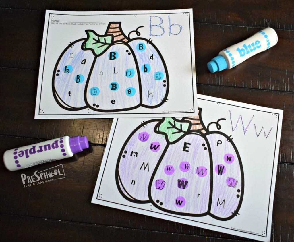 Free Printable Pumpkin Alphabet Do A Dot Worksheets For