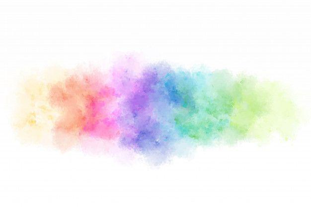 Abstracto Colorido Salpicaduras De Acuarela De Fondo En 2020
