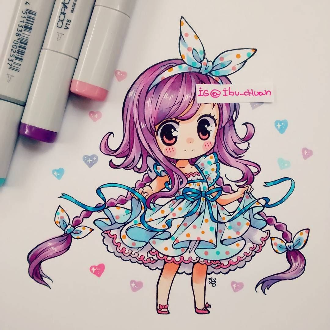 By ibu chuan drawings pinterest copic markers and chibi for Online drawing maker