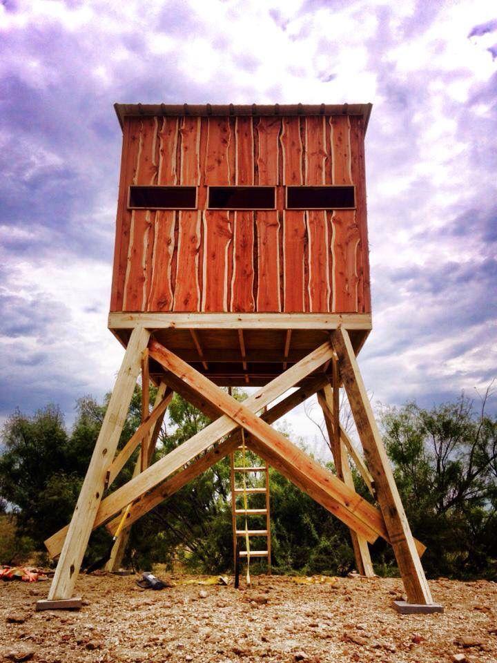 6x8 On 8 Ft Tower Blind Deer Hunting Stands Deer Stand Deer Hunting Blinds