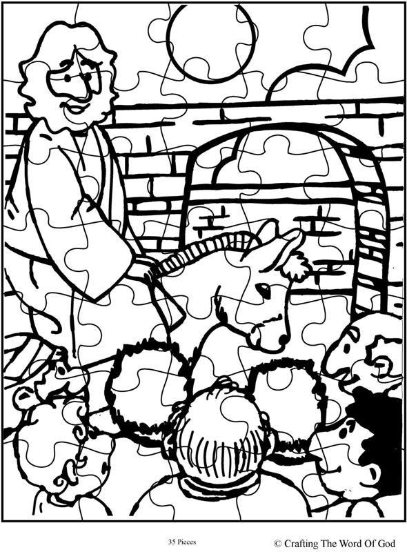 Jesus Enters Jerusalem Puzzle (Activity Sheet) Activity