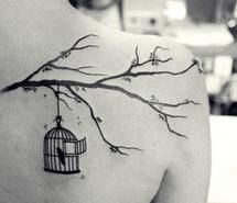 birdcage tree tattoo tattoos