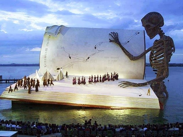 The marvelous floating stage of the Bregenz Festival in Austria.