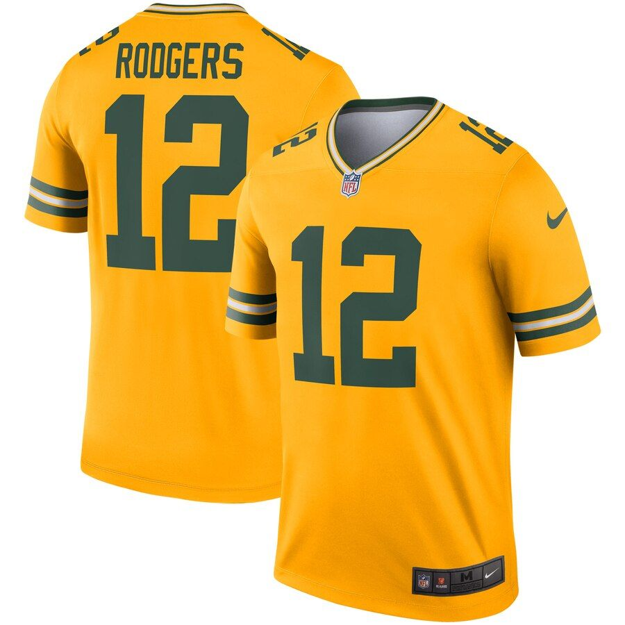 Men S Green Bay Packers Aaron Rodgers Nike Gold Inverted Legend Jersey Camisas Nfl Nfl Futebol Americano