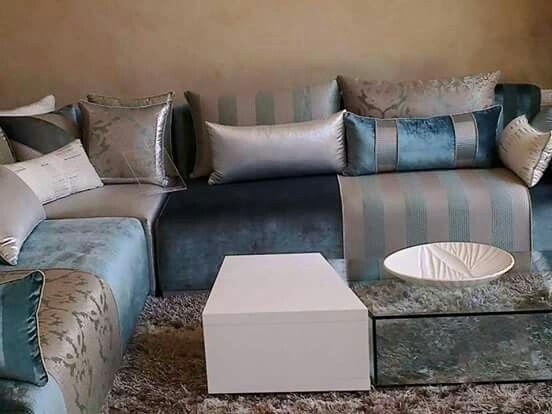 Pin by lina hayek on decoracion marroqui pinterest - Salon marocain bleu roi ...