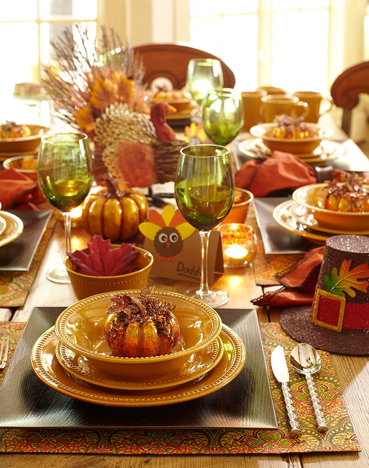 Traditional Thanksgiving dinner, spiced up with fun ...