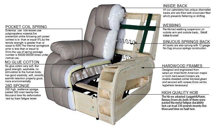 White Home Comfortable Recliner Sofa Chair Furniture