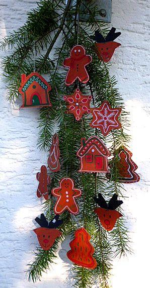 weihnachten basteln lebkuchenfiguren christbaumschmuck. Black Bedroom Furniture Sets. Home Design Ideas