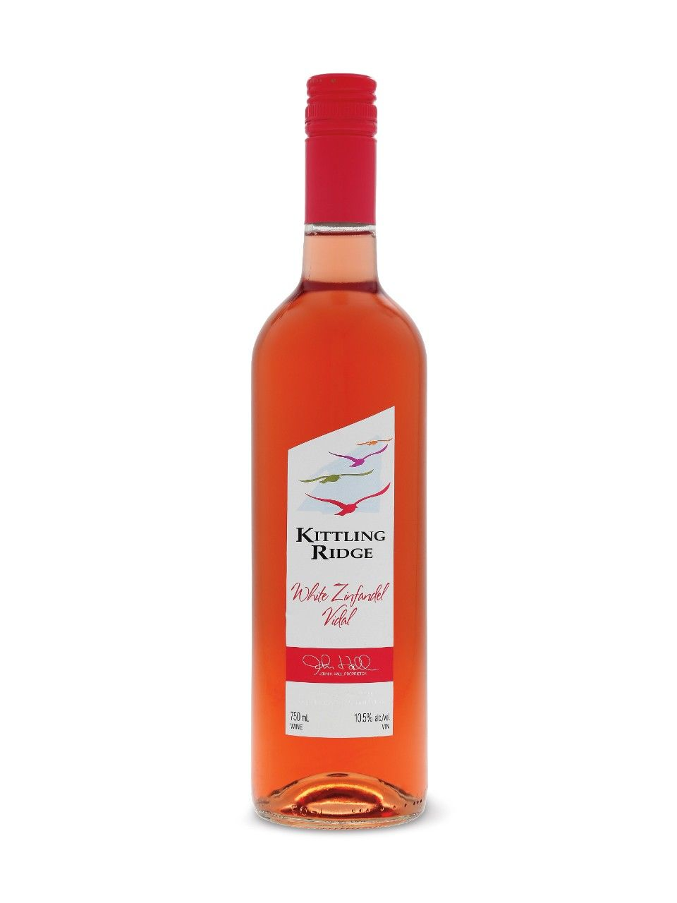 Kittling Ridge White Zinandel Vidal Pd White Zinfandel Wine Bottle Alcoholic Drinks
