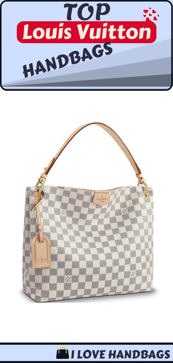 98b0d29223a Louis Vuitton handbags for women   Louis Vuitton Damier Azur Canvas  Graceful PM Shoulder Handbag Rose Balleria Article  N42249 . (affiliate  link )
