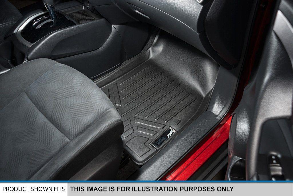 SMARTLINER Floor Mats 2 Rows and Cargo Liner Set Black for
