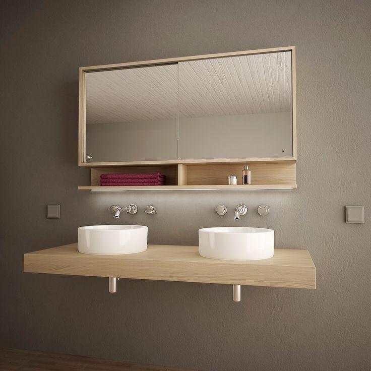 Spiegelschrank mit Schiebetüren und LED Masima 989705218 ...