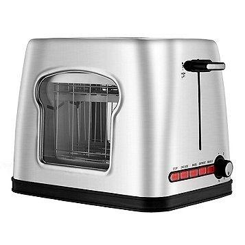 FingerhutGourmia Stainless Steel Wide Slot Toaster W/See