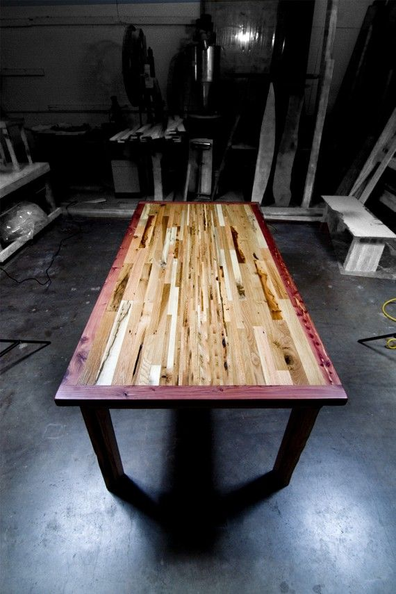 Reclaimed wood dining table from Austin. So beautiful, although quite  pricey! US$5900