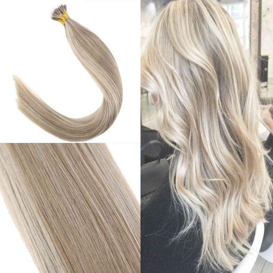Nano Ring Human Hair Extensions Blonde Highlight P 16 22