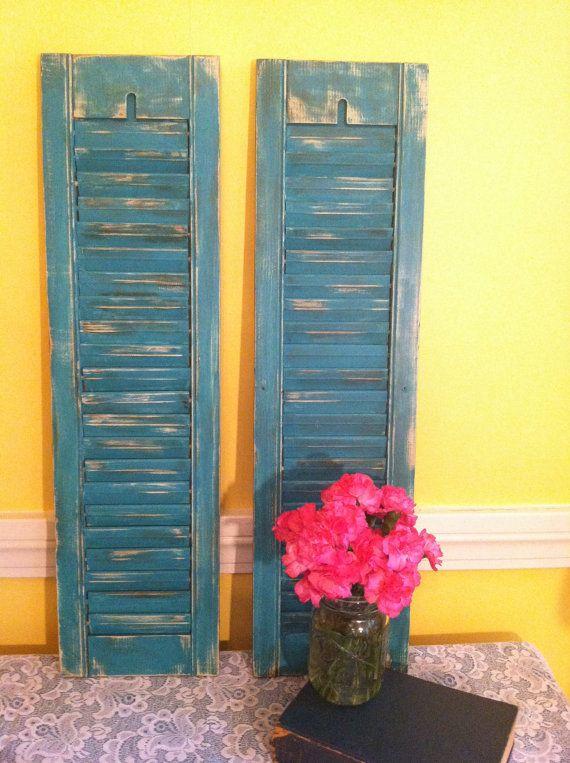 Distressed Vintage Bedroom Inspiration: Distressed Vintage Shutters, Plantation Shutters, Shabby