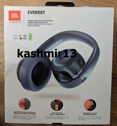 9b127f4b175 Safety sheet. Bluetooth interface. Flight Adaptor. Detachable remote cable.  | eBay! JBL Everest Elite 750NC Wireless Over-Ear Noise Cancelling  Headphones.