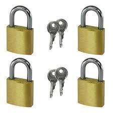 We install and make copies of keys for padlocks
