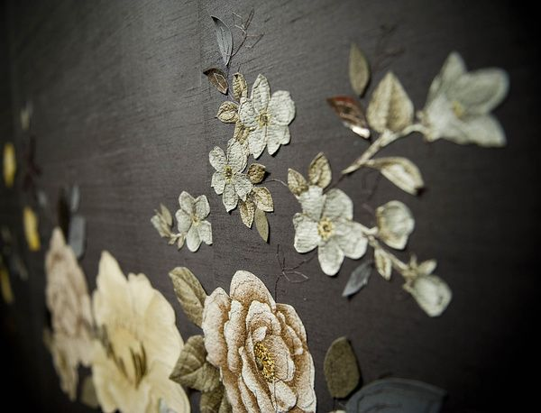 Claire Coles' gothic floral update wallpaper to the 21st century