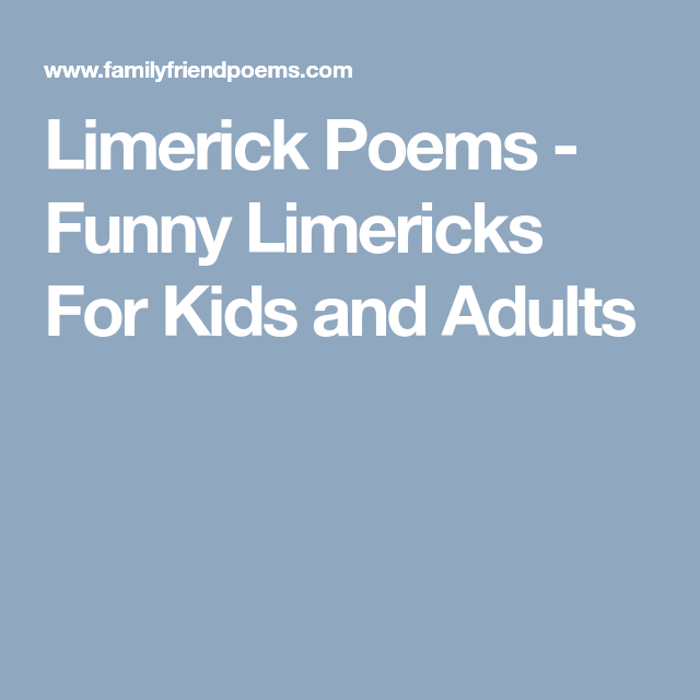funny limericks for adults