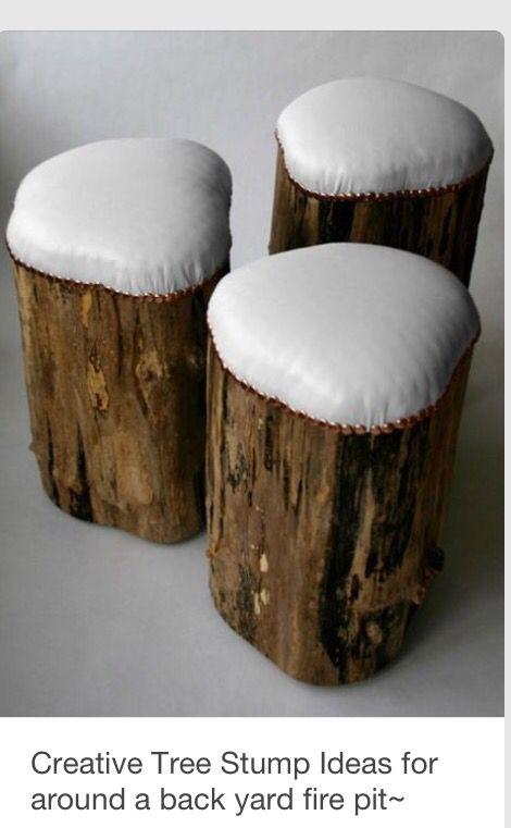 Comfy Bar Stools Log Stools Log Furniture Decor