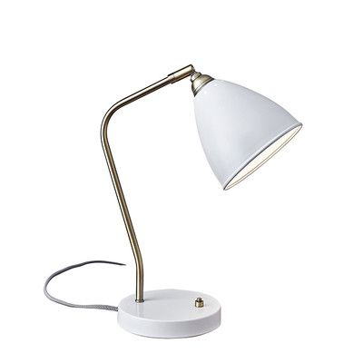 Adesso Chelsea 21 Quot Table Lamp Color White With Images Desk Lamp Lamp