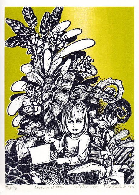 """Serigrafia silk screen print """"Puhdas sivu"""" (A Clean Page) by Satu Laaninen 2016"""