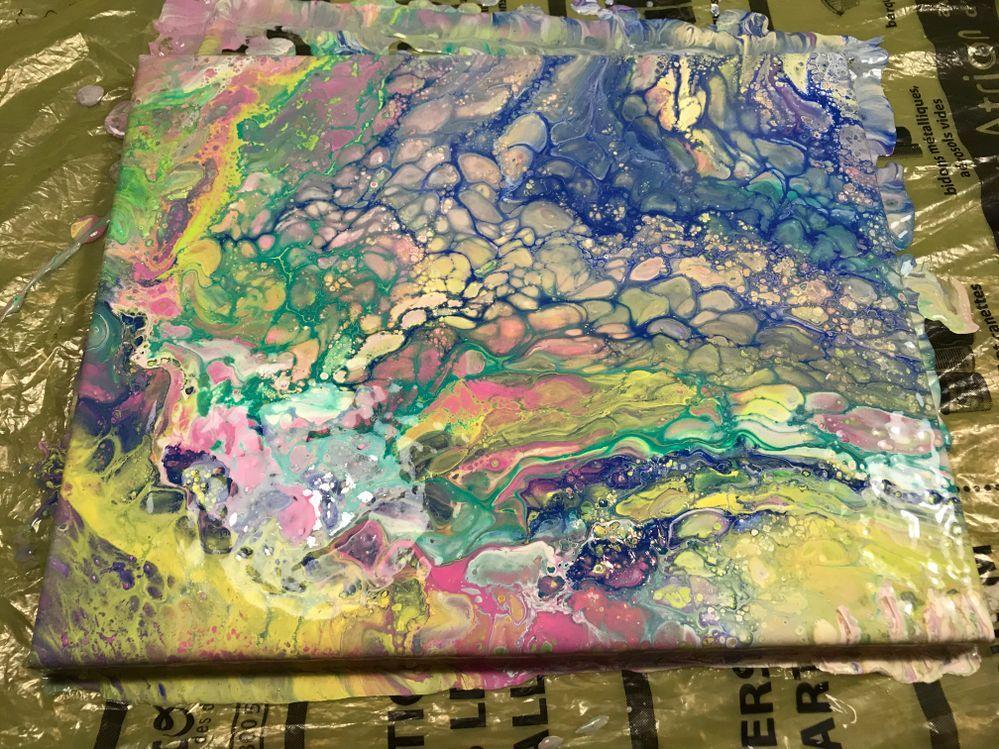 Technique Acrylique Pouring Art Peinture Acrylique Technique