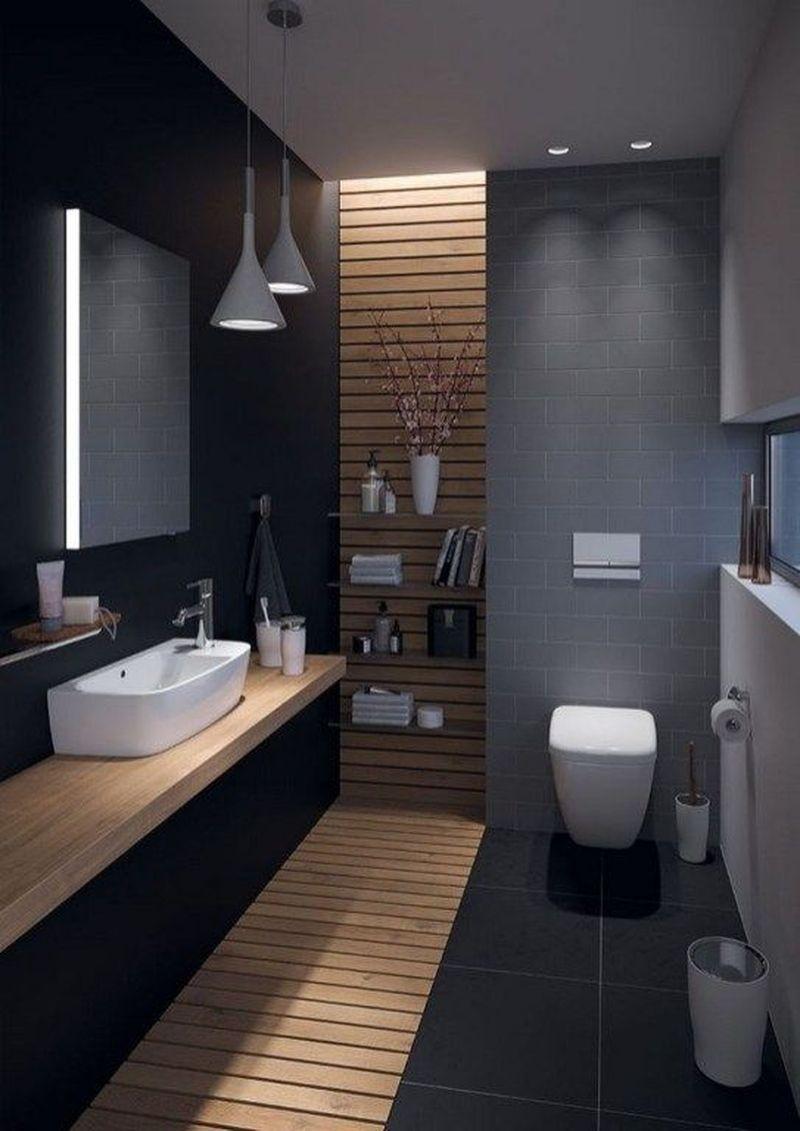 35 The Best Modern Bathroom Interior Design Ideas Homeflish Concrete Bathroom Design Bathroom Design Small Bathroom Design Inspiration