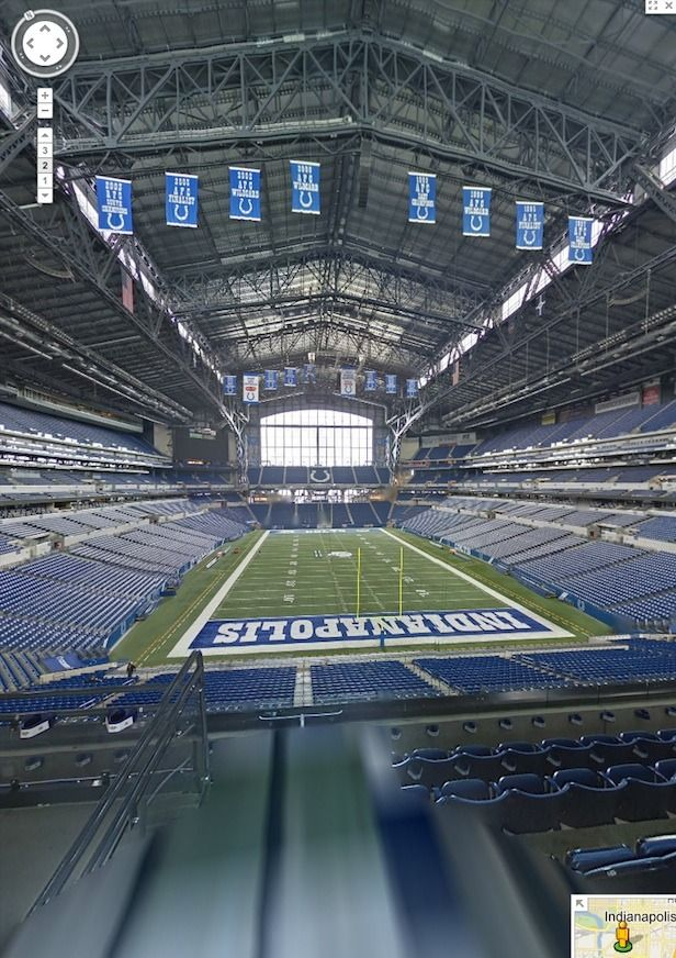 Google Gives Us A Street View Tour Of Lucas Oil Stadium Lucas Oil Stadium Nfl Stadiums Indianapolis Colts Football